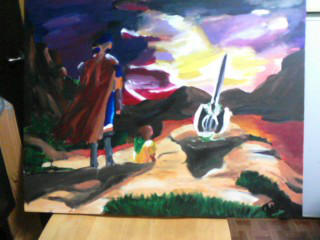 Fire Emblem Path of Radiance Funeral Painting by kwalart