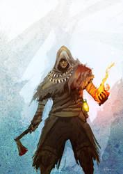 Dark Souls - Pyromancer by Pizza-Surgeon