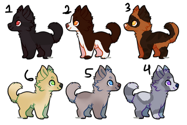 Dog Adopts Batch 1 by jobeisaweirdo