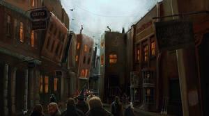 Diagon Alley by jontorresart