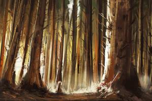 Forest Study by jontorresart