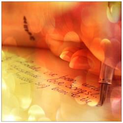 Writing down some lyrics by Valin3a