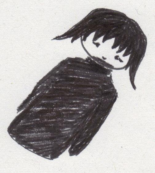 Sad girl  simple by Pandark