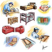 Furniture manufacture by raidan1280