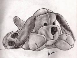 Plush toy dog by raidan1280