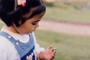 Little girl with frog by raidan1280