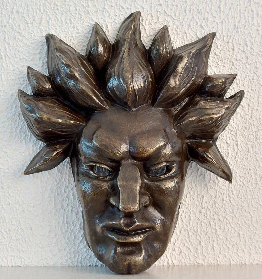 Akuma - bronze mask by raidan1280