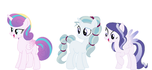 Flurry Heart, Amory, and Blizzy Skies :Next Gen: by BerryPunchrules