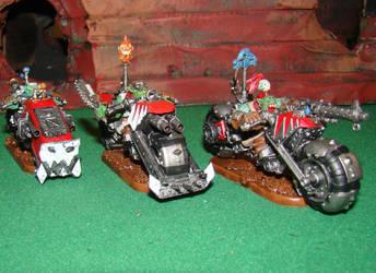 Ork Bike Squad conversion from Ork Deff Koptas by gambit4802