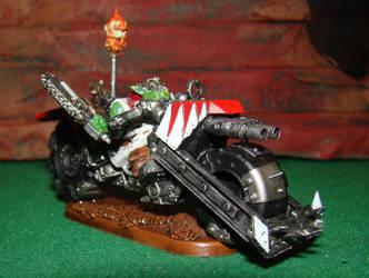 ork painboy on warbike deff kopta conversion by gambit4802