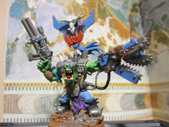 Ork Warboss with Chain-Power claw 2 by gambit4802