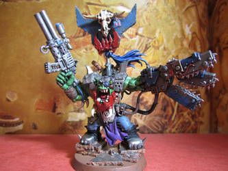 Ork Warboss with Chain-Power claw Final by gambit4802