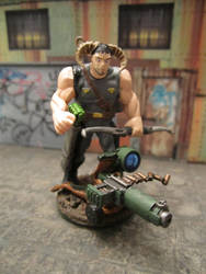 Kit-bashed Shadowrun Troll with Bow and Ax! by gambit4802
