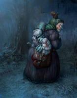 Scary Tales: Baba Yaga by karola-j