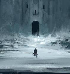 Castle carved in glacier by ArtofReza