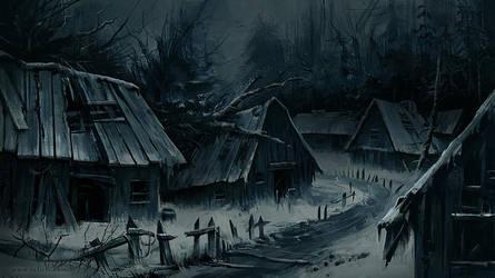 Abandoned village views 01 by ArtofReza