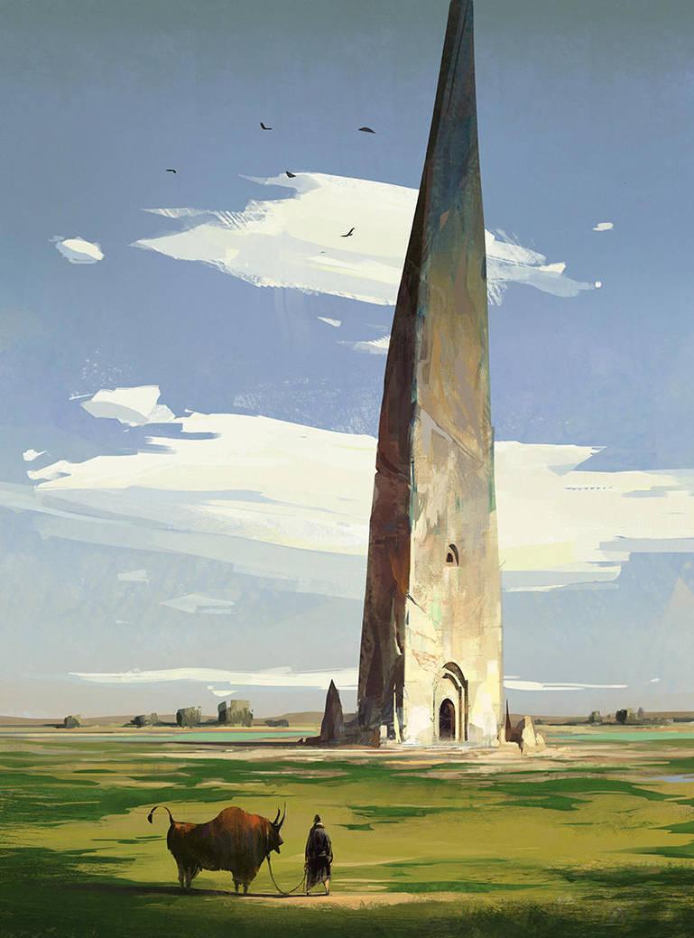Stone Tower by ArtofReza