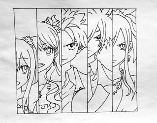 Fairy Tail Line-art by Zilfana-9