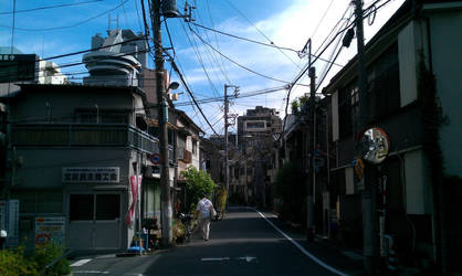 Tokyo Down town by wolfilain