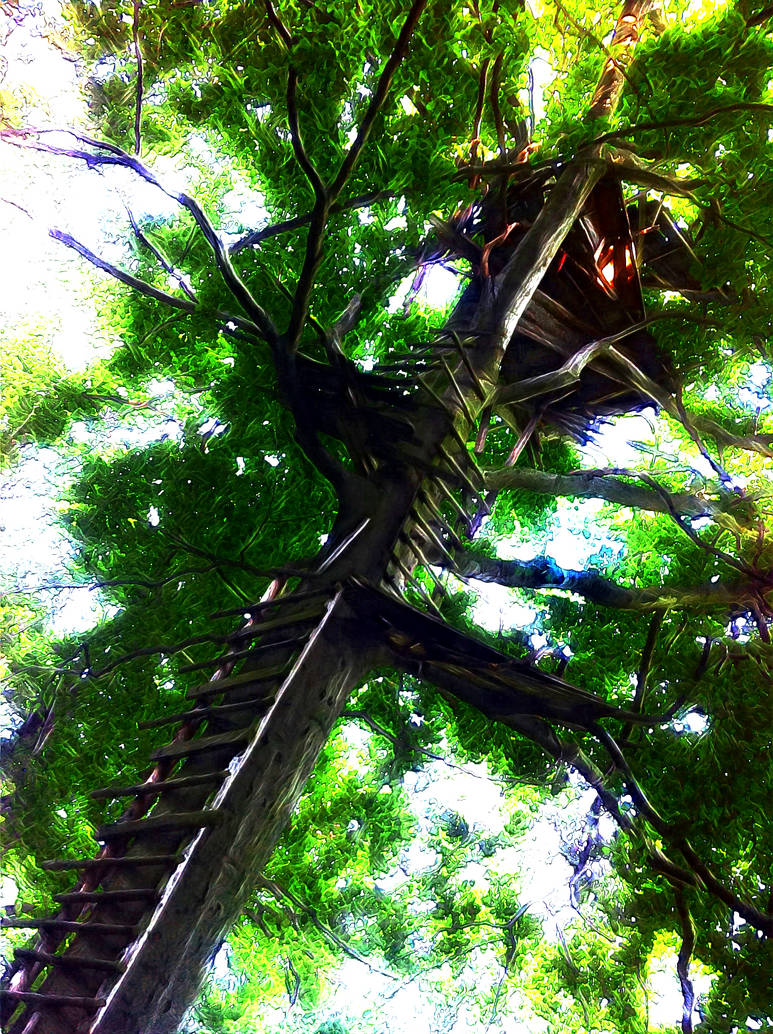neural treehouse by wolfilain