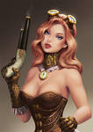 Pinup Steampunk girl by Yuuza