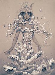 Water goddess by Yuuza