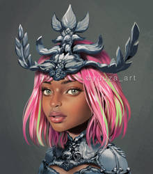 Girl with crown by Yuuza