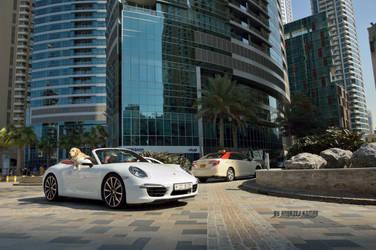 Dog Driving a Porsche by UtopiaSkyPhotoWorks