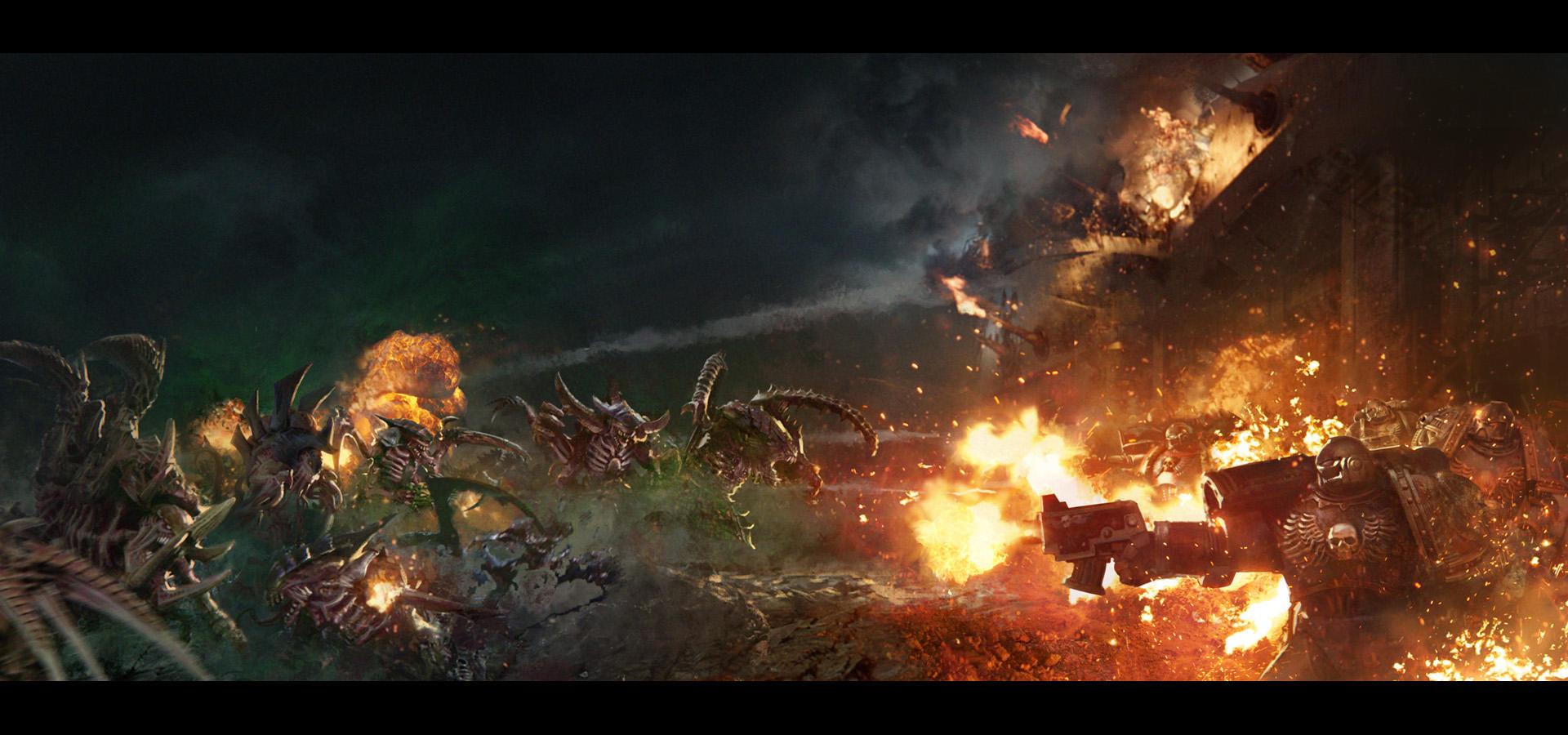 Shield of Baal: Tyranids vs Flesh Tearers by agnidevi