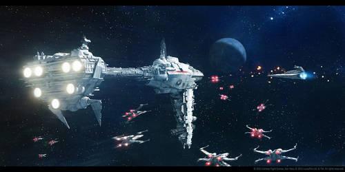 SW Armada: Nebulon-B Escort Frigate by agnidevi