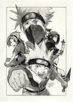 NARUTO TEAM KAKASHI by MickeyTheSaviour