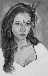 Portrait Drawing of Shruthi Hassan by MickeyTheSaviour
