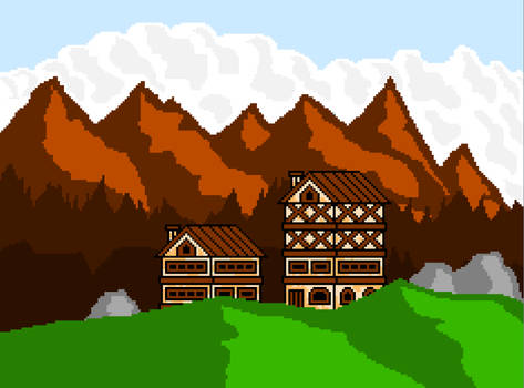 pixel mountains by Vograd
