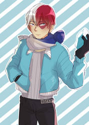 todoroki holding a Weapon by raexie