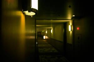 Hotel Corridor by MetaAnomie