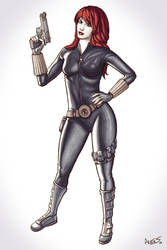 Black Widow markers by alexsollazzo