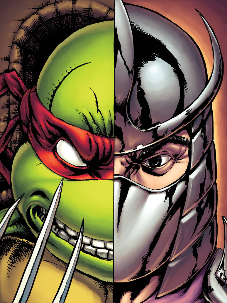 Raph and Shredder by alexsollazzo