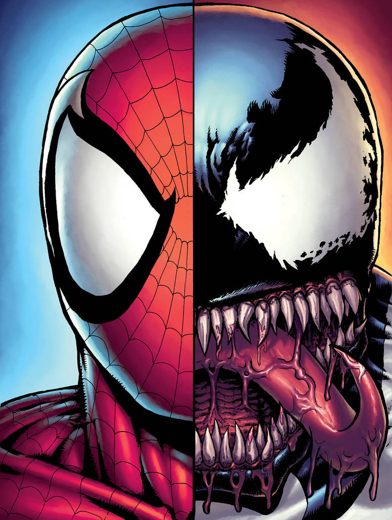 Spidey and Venom by alexsollazzo
