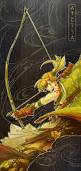 Samurai Archer Link by deerlordhunter