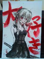 BnW Gasai Yuno by GSong-chan
