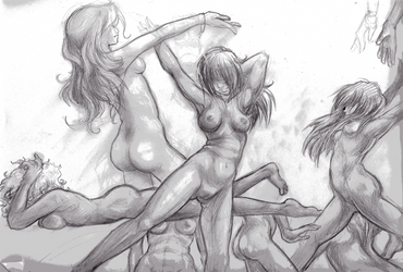 Nude Women Sketch by Ink-Hound