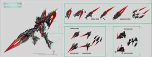 Gimmicks of Gundam Uranus by masarebelth