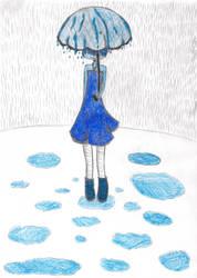 Rain and Rosemarie by Zuari-chan