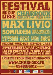 Festival en Roue Libre Poster by RicGrayDesign