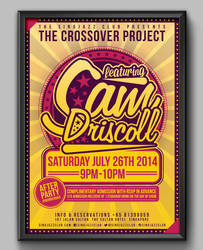 The Crossover Project @ The Singjazz Club by RicGrayDesign