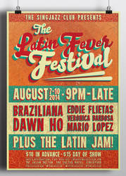 The Latin Fever Festival Poster by RicGrayDesign