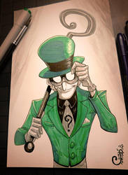 The Riddler - Inktober Day 11 by Curly-Artist