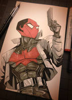 Red Hood (Jason Todd) - Inktober Day 16 by Curly-Artist
