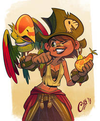 Parrot Pirate Trainer by Curly-Artist