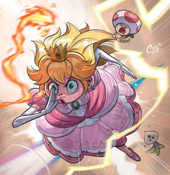 Peach going through hell and back by Curly-Artist
